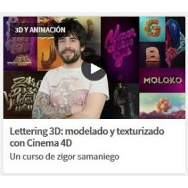 Lettering 3D: Modelado y Texturizado con Cinema 4D