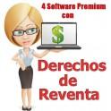 4 Softwares Premium con Derechos de Reventa