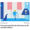 Crea una transición de interiores en 3D con After Effects