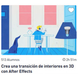 Crea una transición de interiores en 3D con After Effects