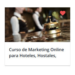 Curso de Marketing Online para Hoteles, Hostales y B&B