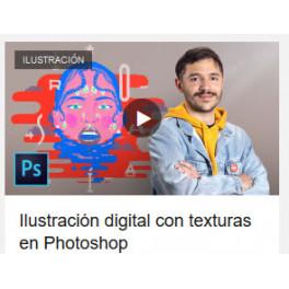 Ilustracíon digital con texturas en Photoshop