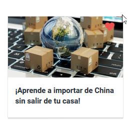 Aprende a importar de China sin salir de tu casa