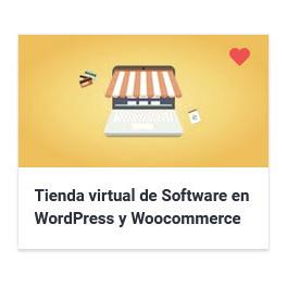 Tienda virtual de Software en WordPress y Woocommerce