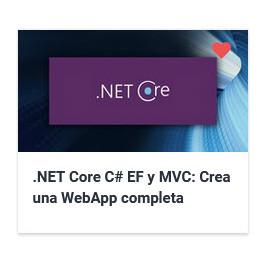 .NET Core C EF y MVC - Crea una WebApp completa desde cero