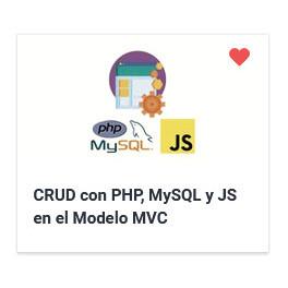 CRUD con PHP, MySQL y JS en el Modelo MVC