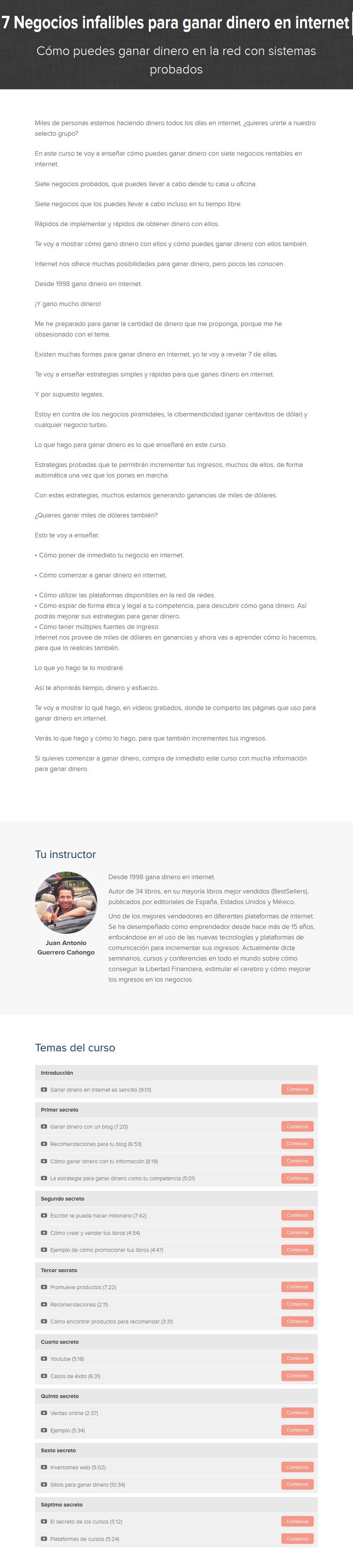 7 Negocios Infalibles Para Ganar Dinero en Internet - Juan Guerrero