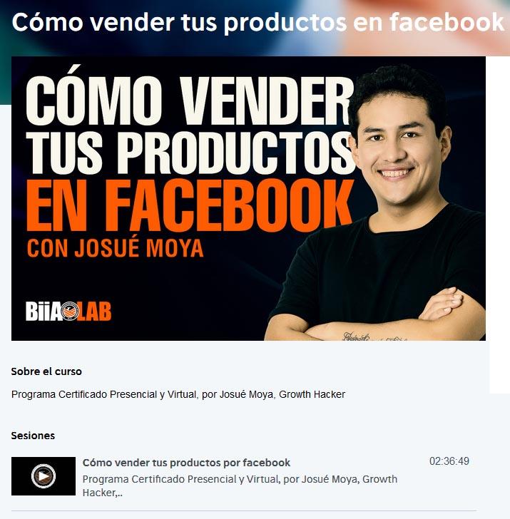 cómo vender tus productos en facebook - josué moya
