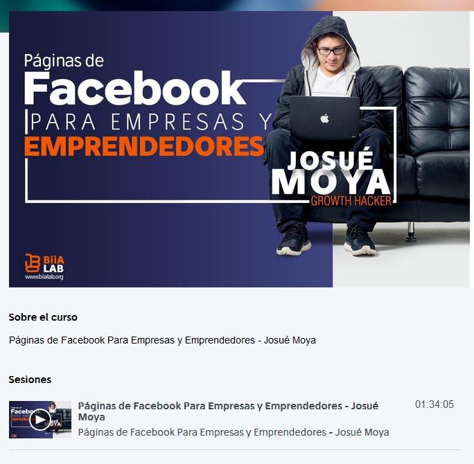 Páginas de Facebook Para Empresas y Emprendedores - josué moya