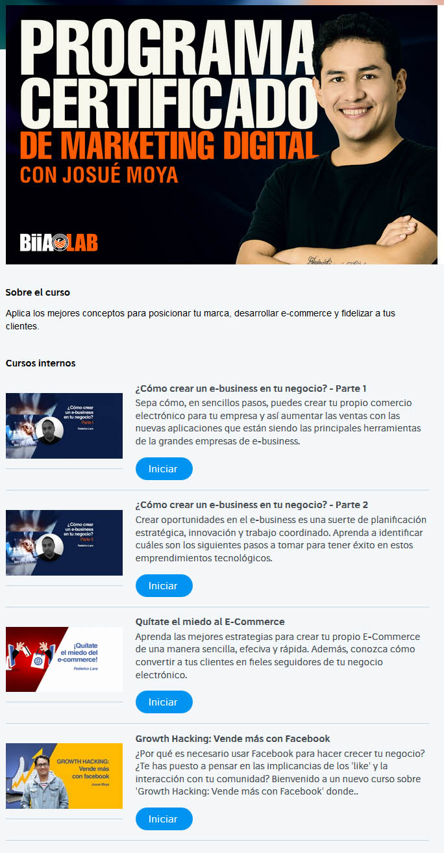 Programa Certificado de Marketing Digital