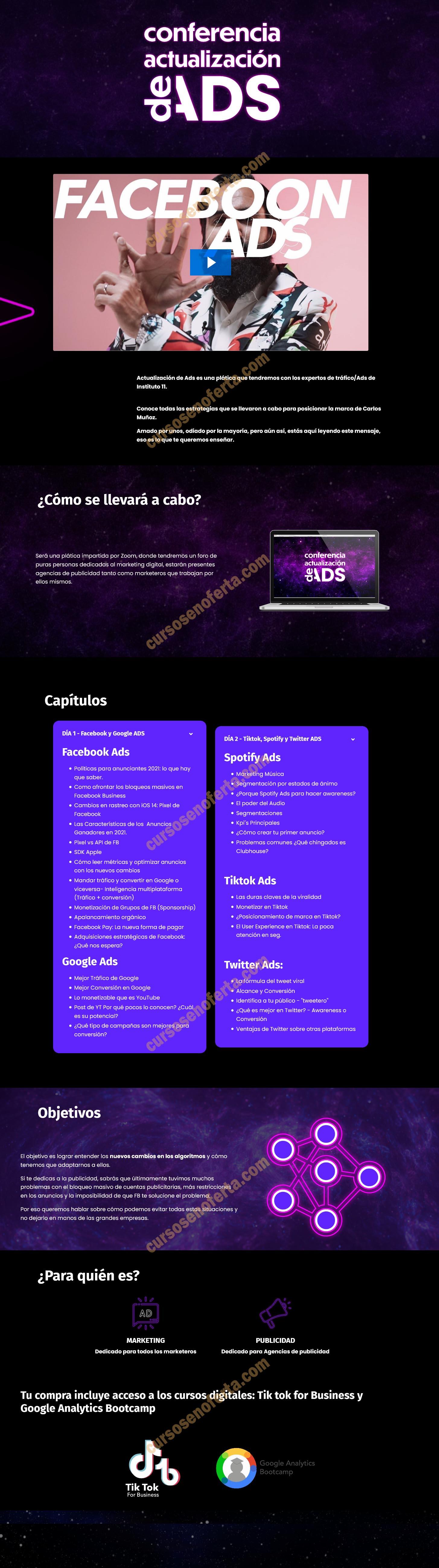 Conferencia actualización de ads