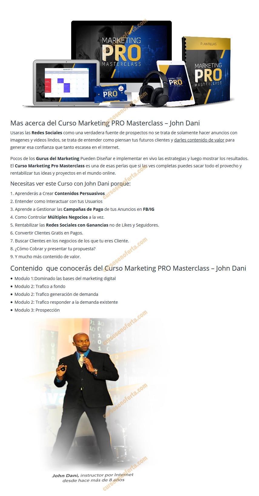 Marketing Pro Masterclass - john dani