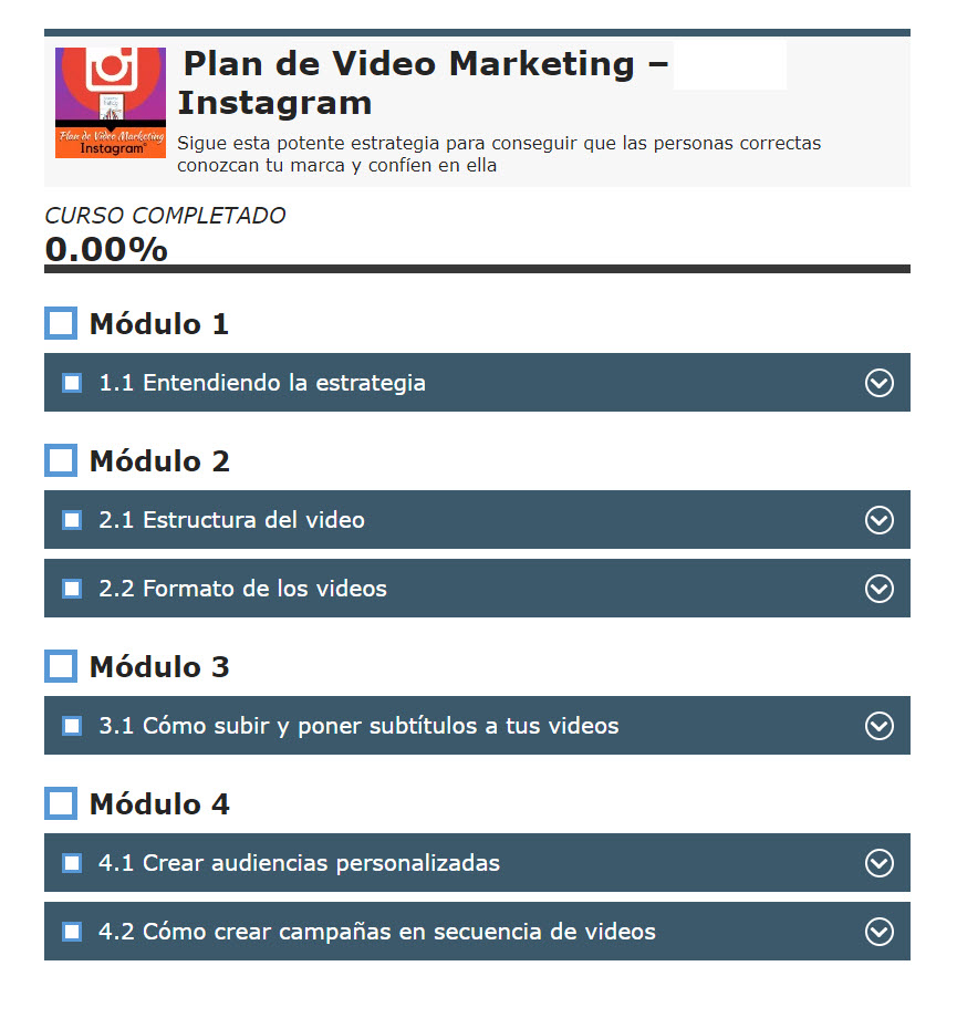 Plan de Video Marketing - Instagram - carlos cerezo