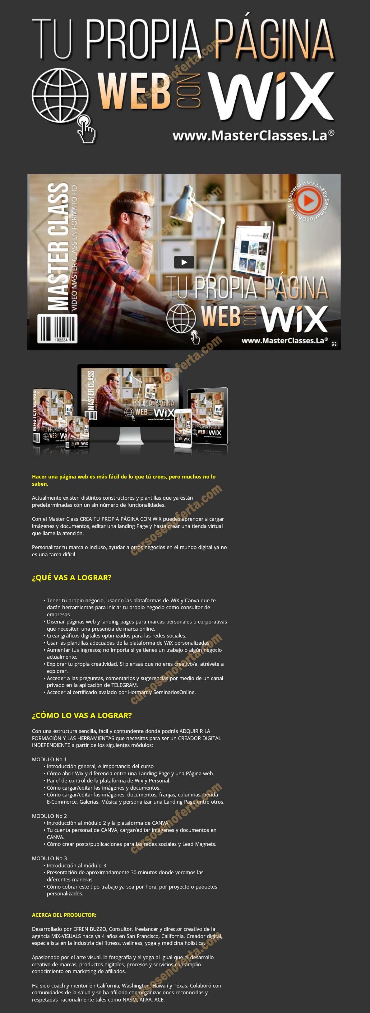 Tu propia web con Wix