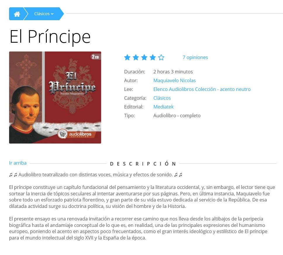 El Príncipe (Audiolibro)