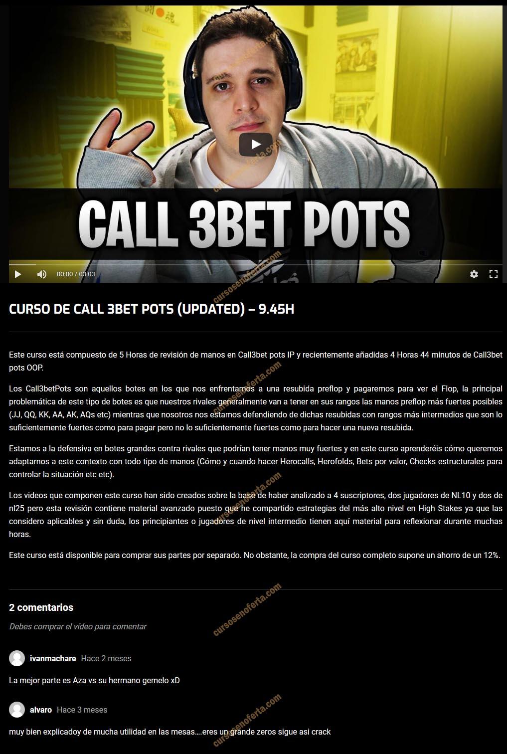 Curso de Call 3Bet Pots