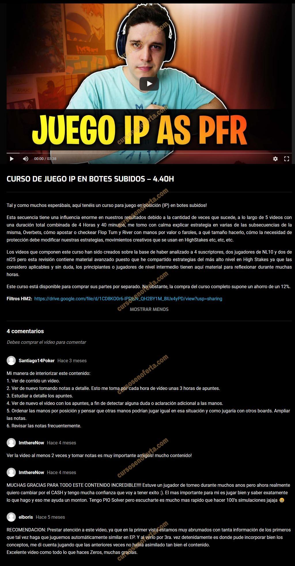 Curso de Juego IP en Botes Subidos