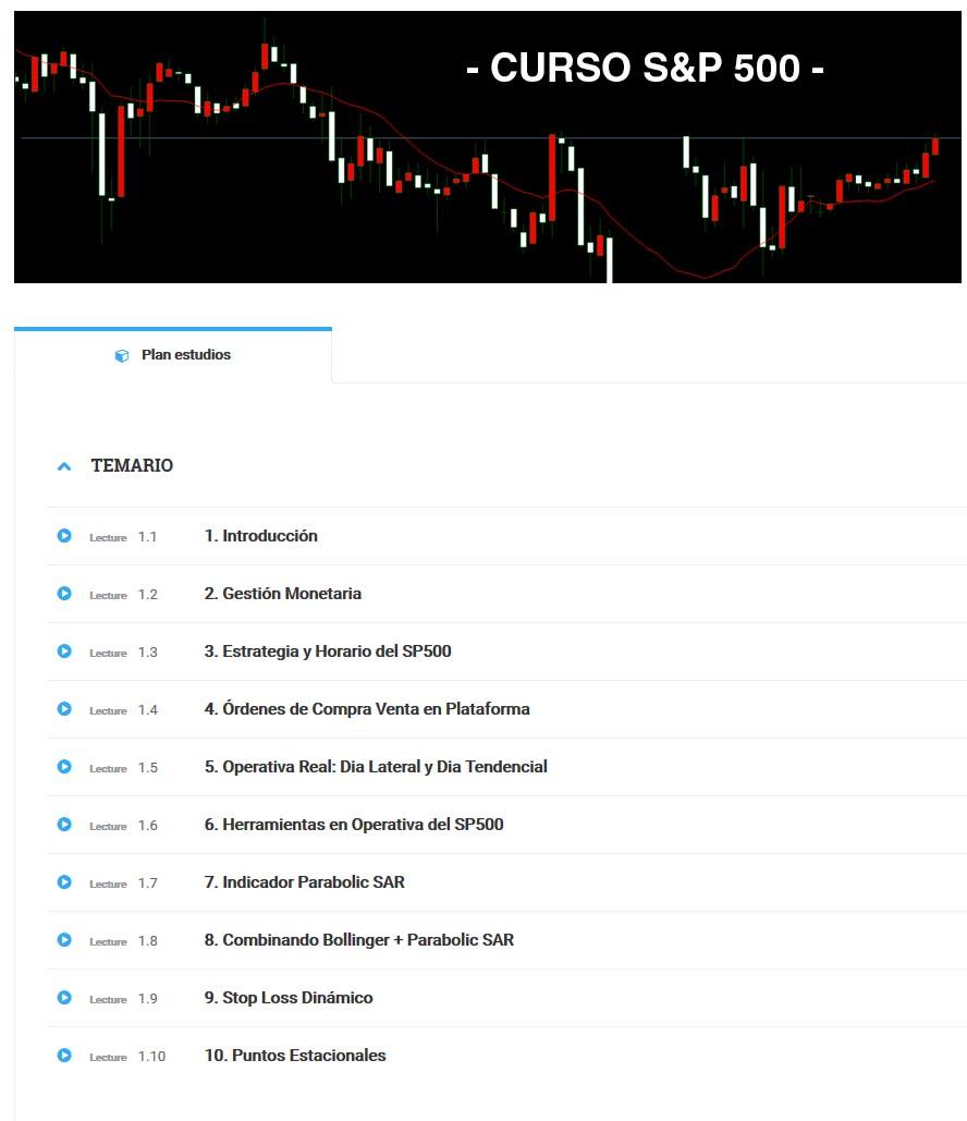 Curso de S&P 500