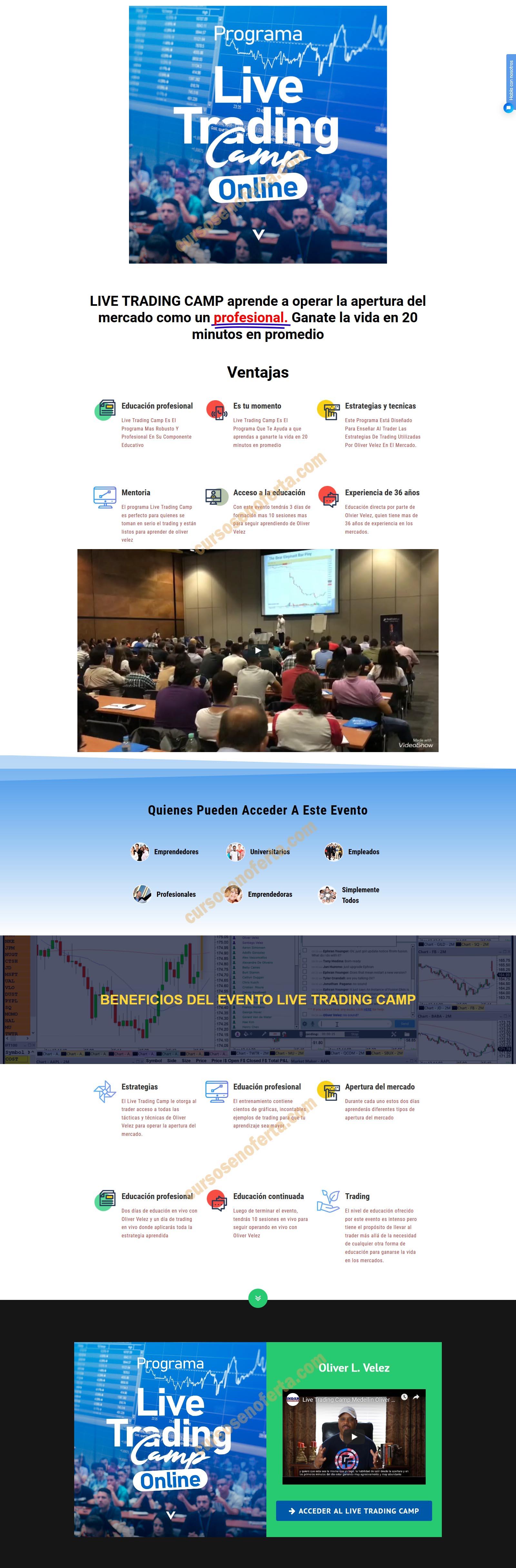 Live Trading Campo con Oliver Velez