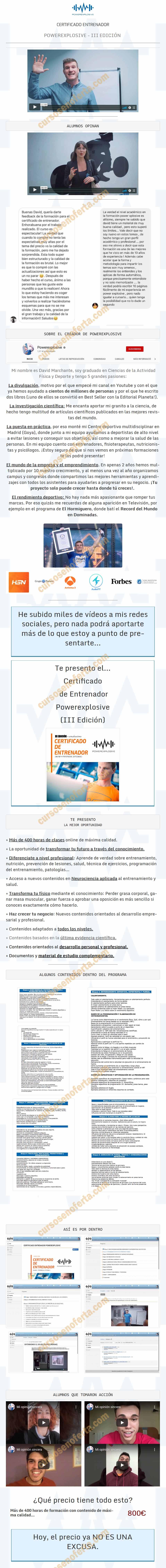 Certificado de Entrenador Power Explosive III