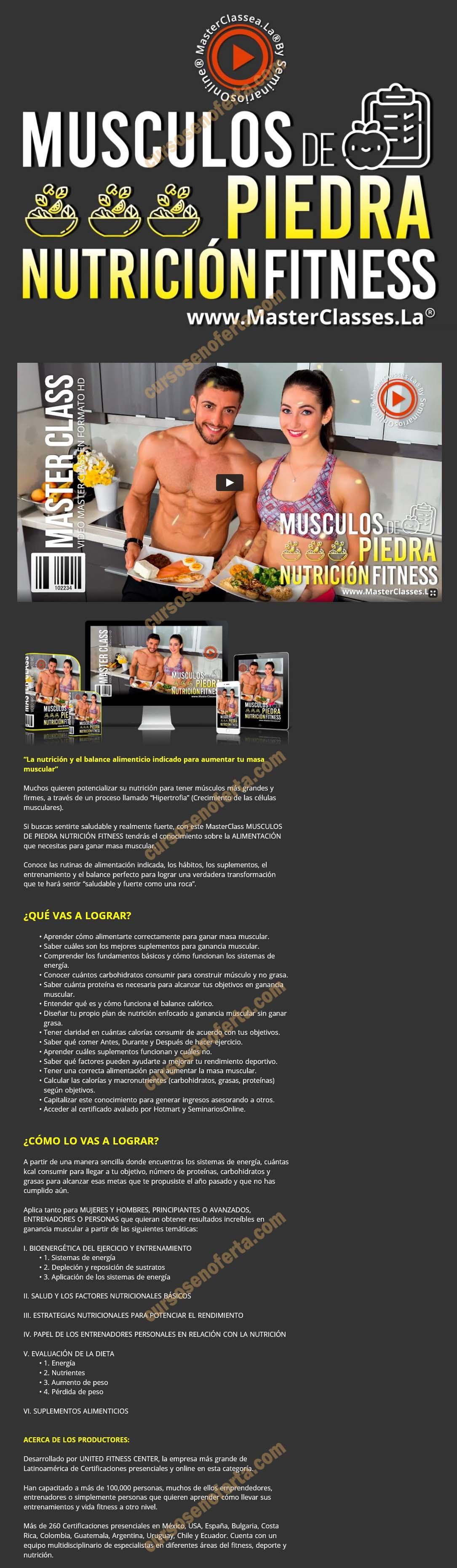 Músculos de piedra nutrición fitness