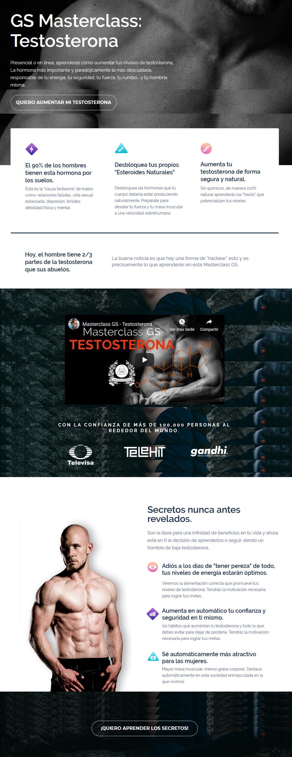 Masterclass Testosterona - gerry sánchez