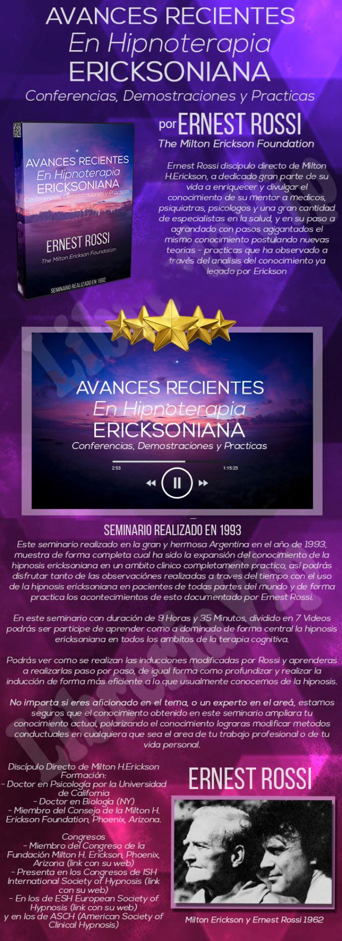 Avances Recientes en HIpnosis Ericksoniana