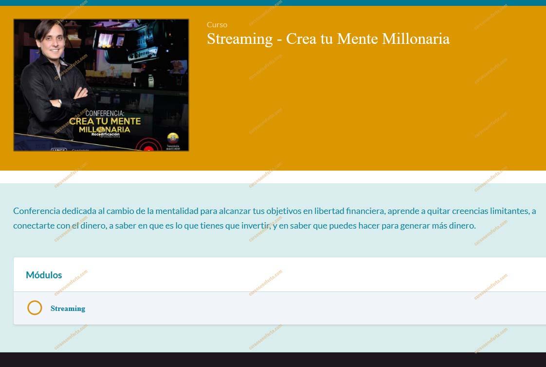 Crea tu Mente Millonaria - Streaming
