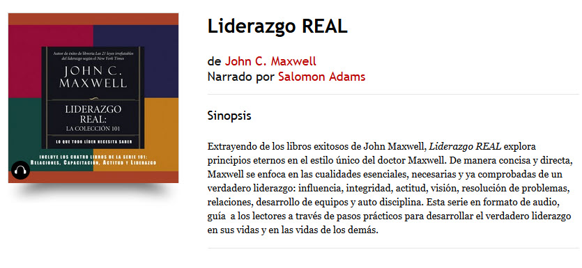Liderazgo Real - John C. Maxwell