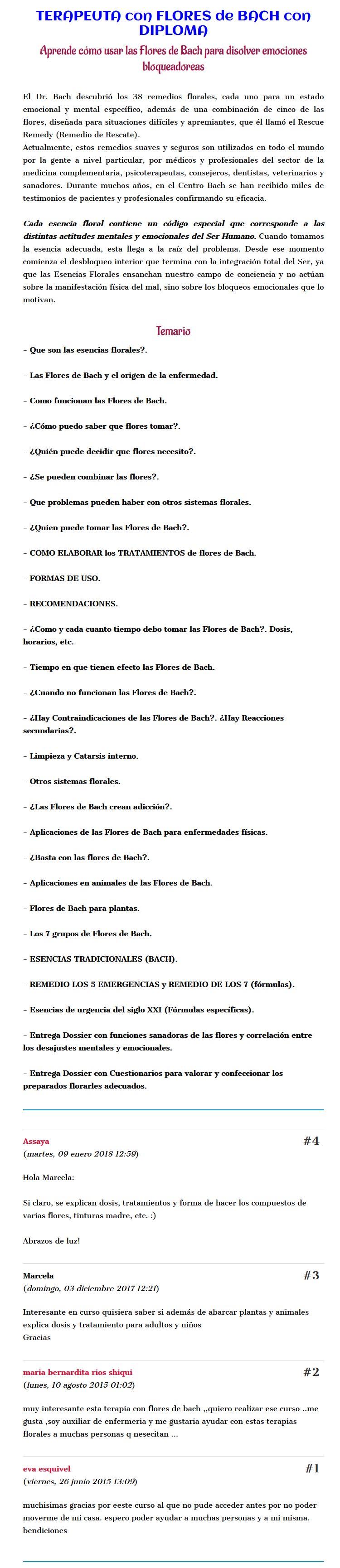 Terapeuta con Flores de Bach - assaya