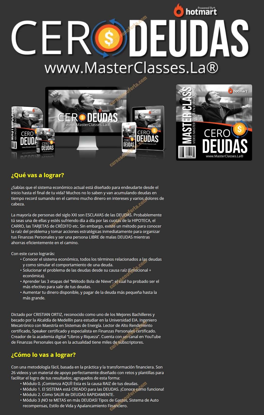Cero Deudas - masterclasses la