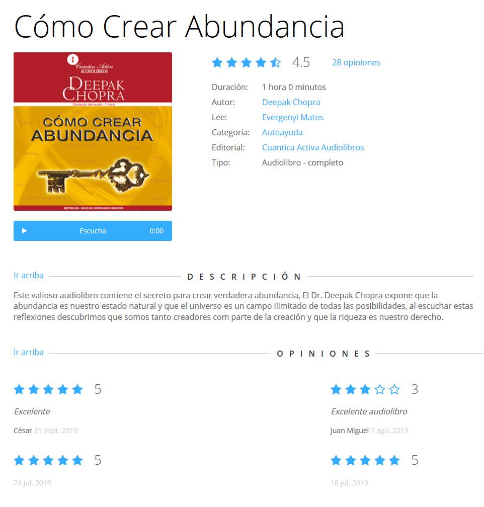 Cómo crear abundancia - Deepak Chopra