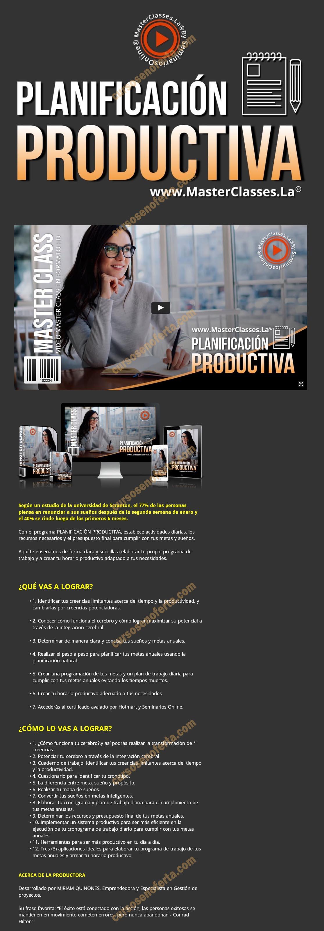 Planificación productiva - miriam quiñones