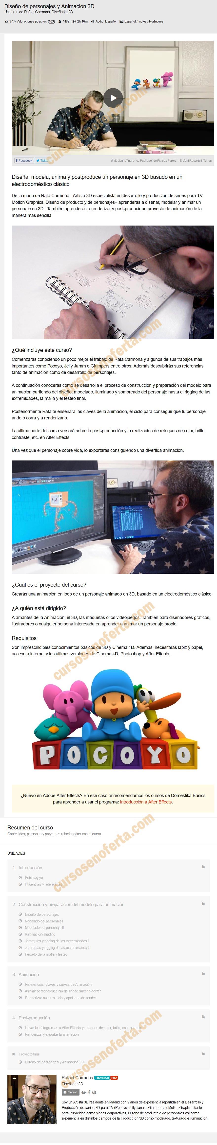Diseño de personajes y Animación 3D