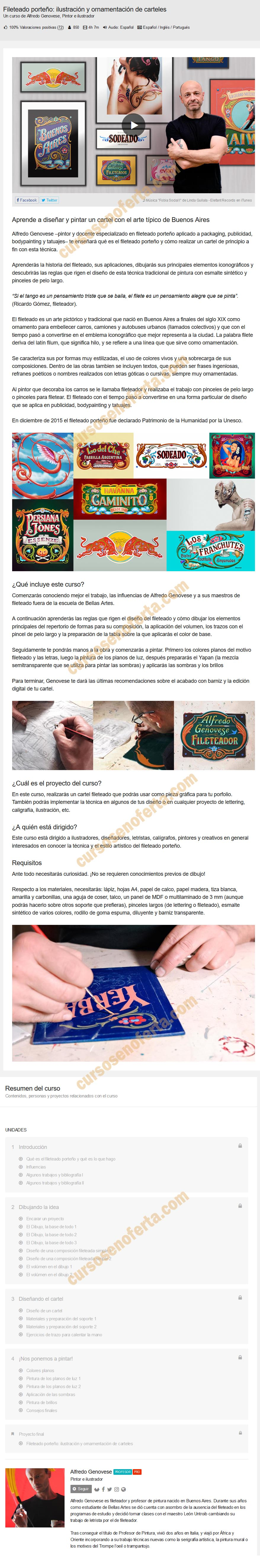 Fileteado porteño: ilustración y ornamentación de carteles