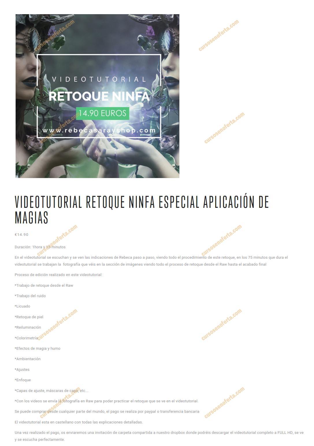 Video Tutorial Retoque Ninfa