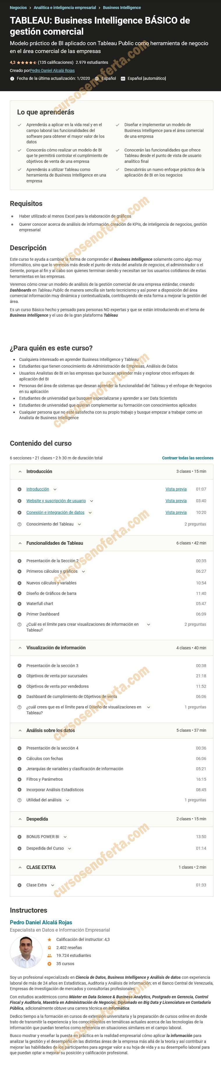 TABLEAU - Business Intelligence BÁSICO de gestión comercial