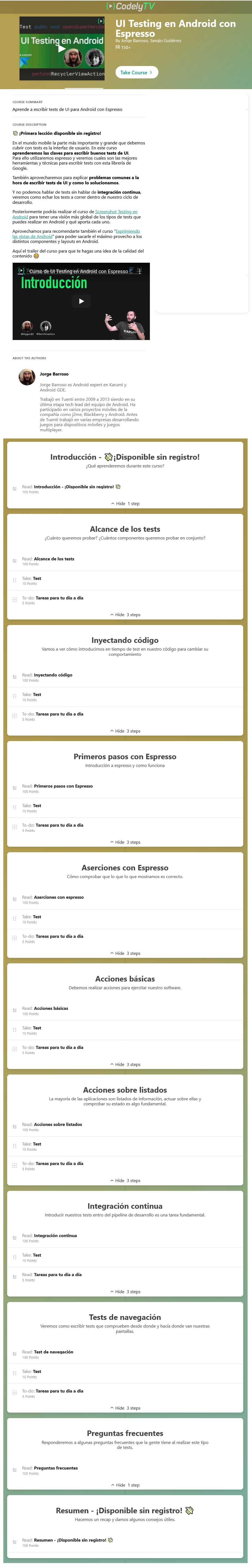 UI testing en android con espresso - jorge barroso