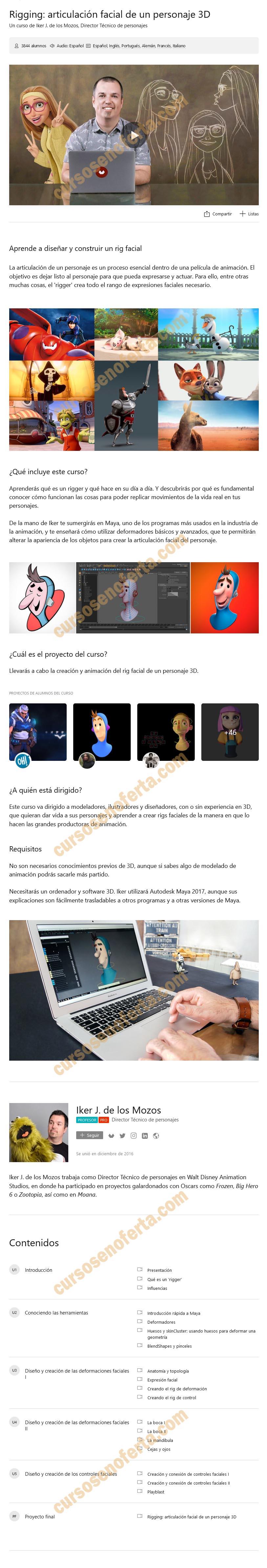Rigging - articulación facial de un personaje 3D