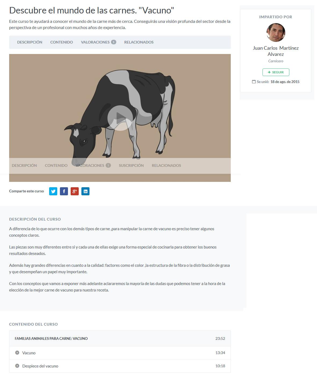 Descubre el Mundo de las Carnes. Vacuno