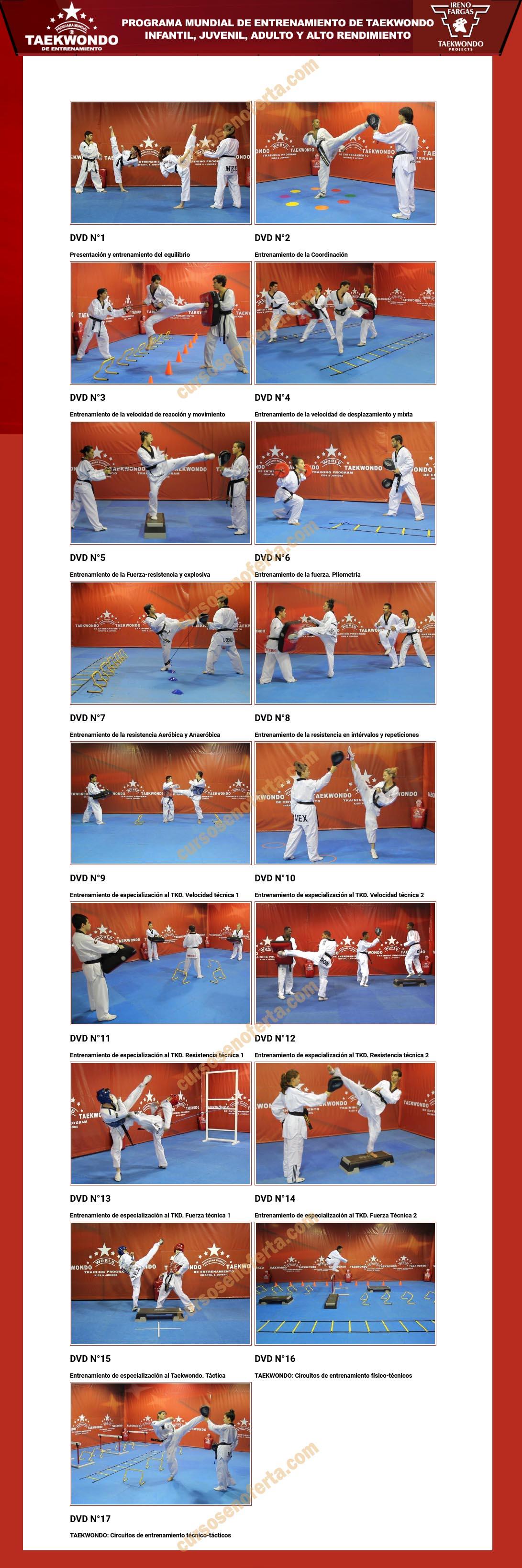 programa mundial taekwondo