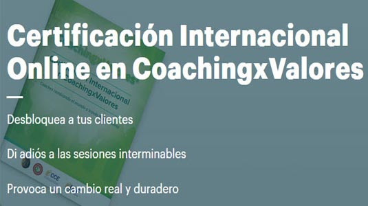 Certificación Internacional Online en Coaching x Valores