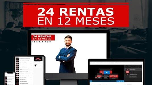 24 Rentas en 12 Meses  César Rivero