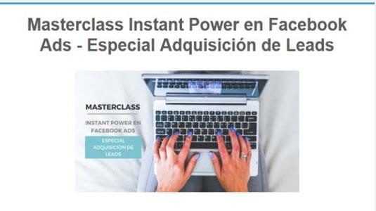 masterclass instant power en facebook ads